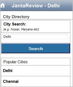 JantaReview iphone - City Directory