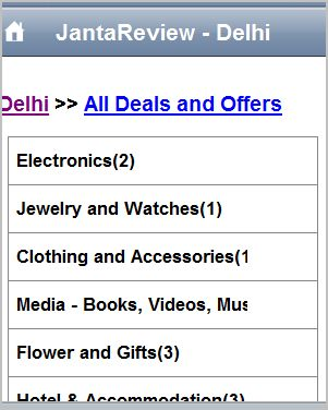 Search Deals and offers